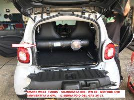 smart gpl,nuova smart,gpl,w453,installazione,impianto gpl,brc,bombola,gas