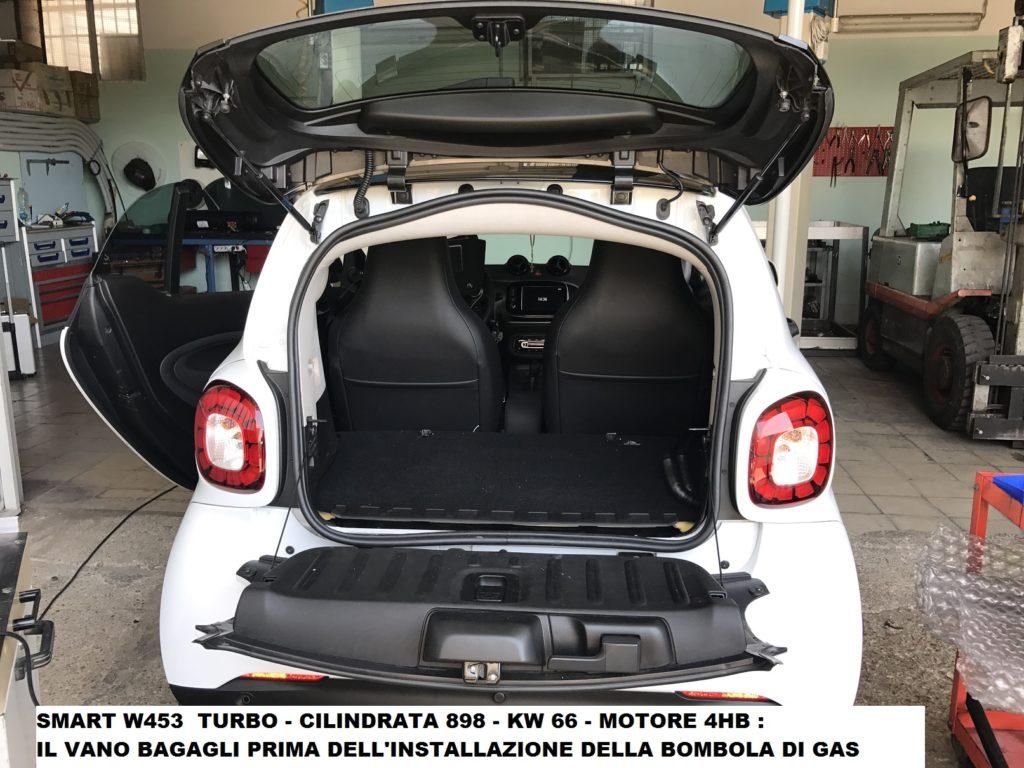 smart gpl,nuova smart,gpl,w453,installazione,impianto gpl,brc,bagagliaio