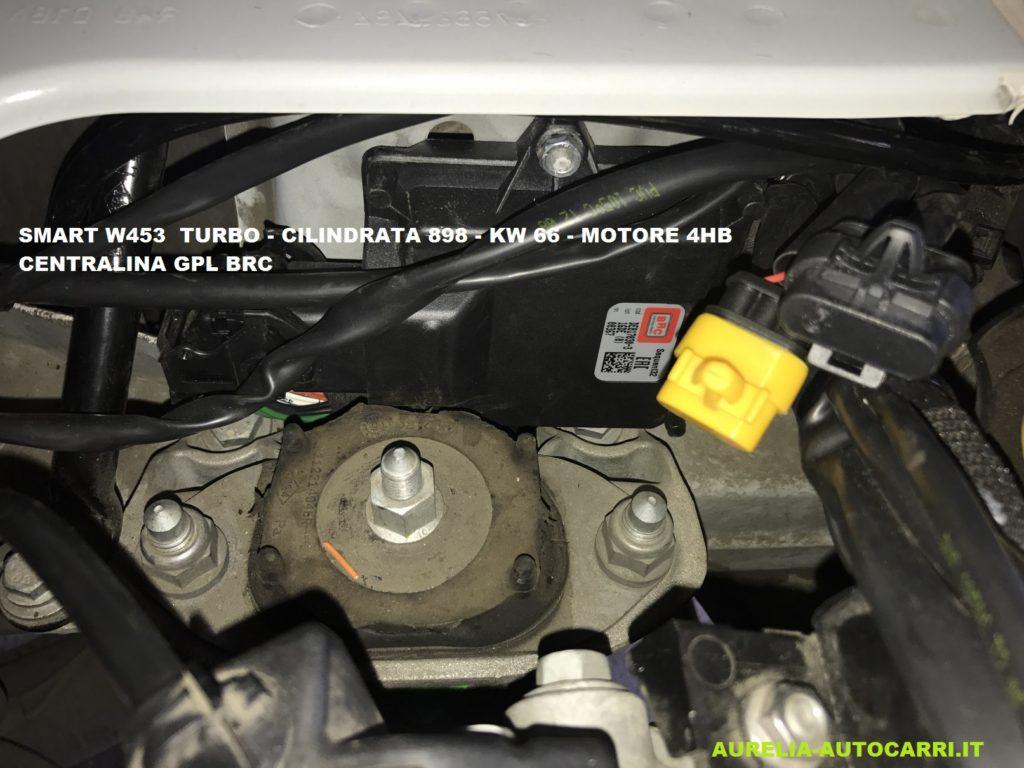 smart gpl,nuova smart,gpl,w453,installazione,impianto gpl,brc
