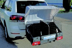 tow box,portacani,carrello cani,gancio
