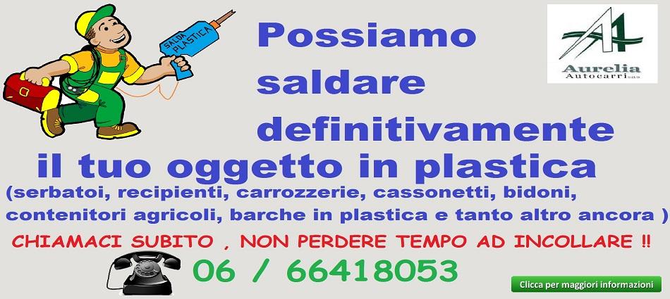 saldare la plastica - saldatura plastica Roma